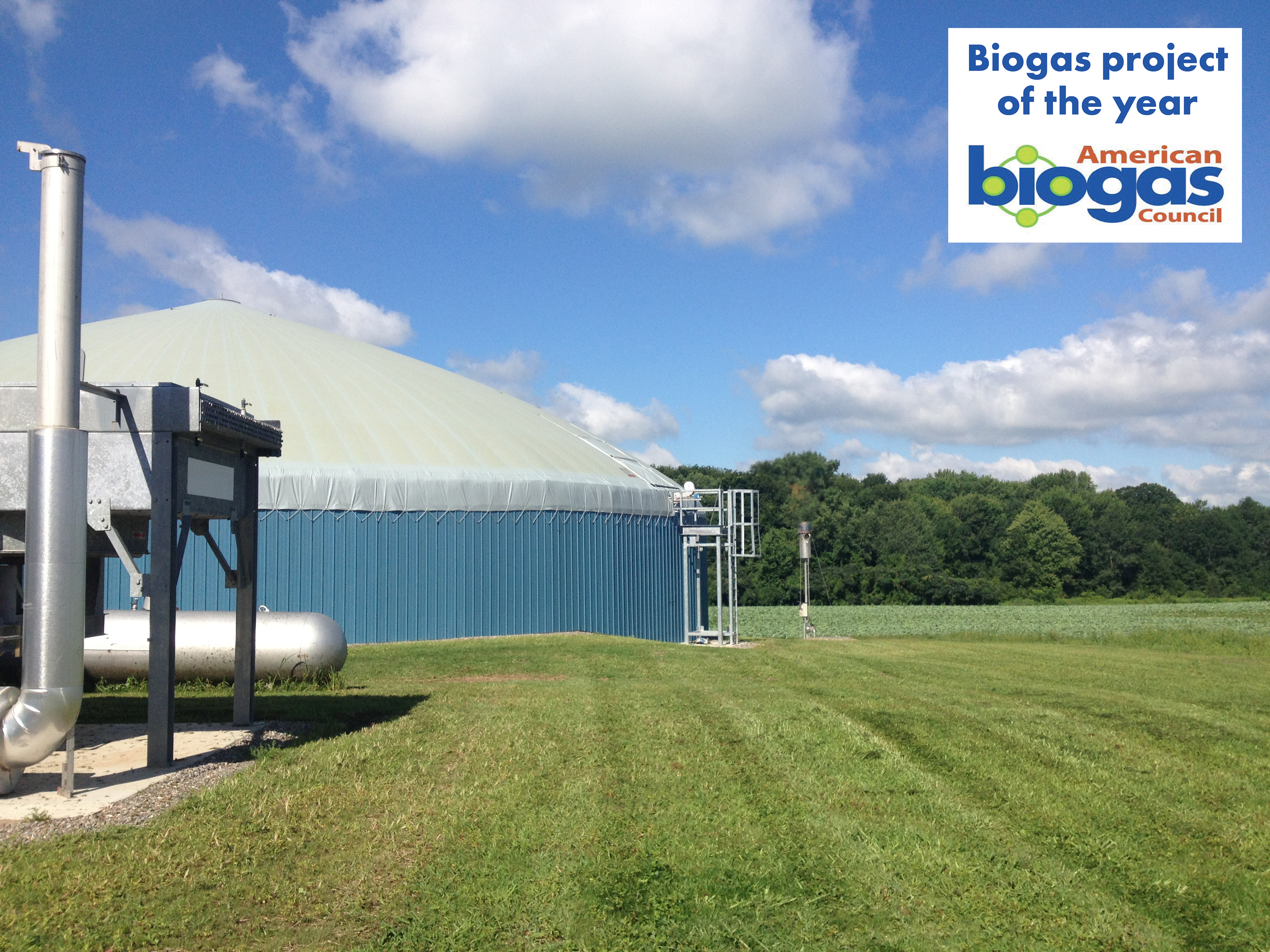 Prize-winning biogas plant in the USA